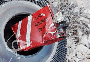 تصویری از جعبه سیاه هواپیمای سقوط کرده ترکیهای