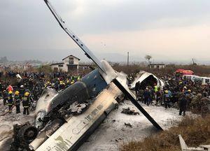 تصویری از لاشه هواپیمای سقوط کرده در نپال