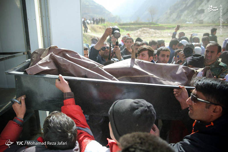 انتقال اجساد جانباختگان هواپیمای CL60 ترکیه