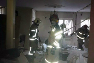 عکس/ انفجار مواد محترقه در خانه مسکونی