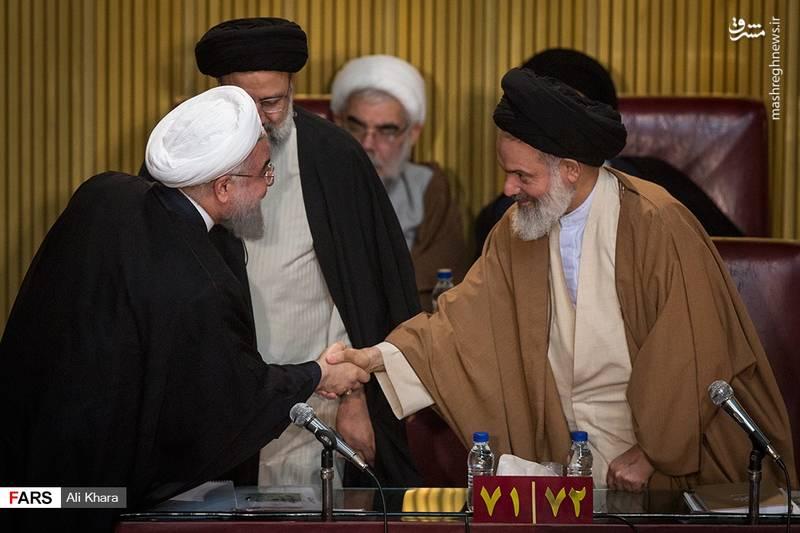 آیت الله حسینی بوشهری- حسن روحانی(رئیس جمهور جمهوری اسلامی)