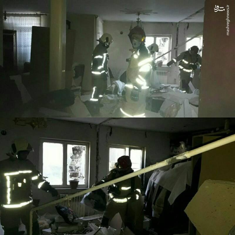 2211309 - انفجار یک واحد مسکونی در اتوبان تهران- کرج