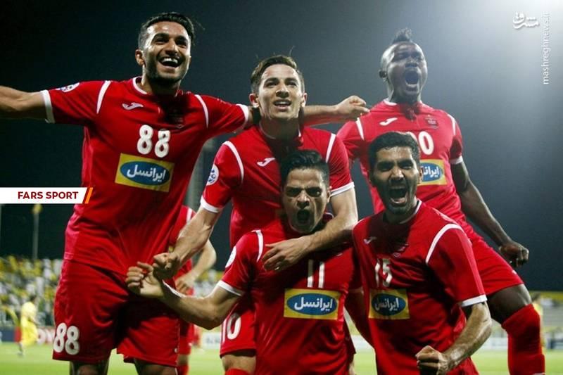 عکس/ شادی پرسپولیسی ها پس از گل سه امتیازی کمال