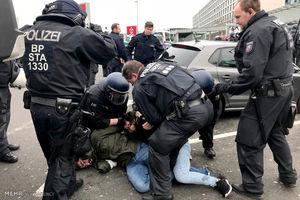 درگیری پلیس آلمان با کردها
