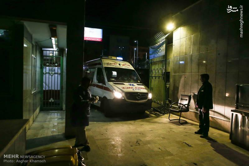 تعدادی از مصدومان چهارشنبه سوری در تهران به بیمارستان شهید مطهری منتقل شدند.