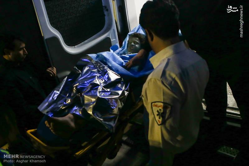 انتقال مجروحان حوادث چهارشنبه آخر سال به بیمارستان شهید مطهری تهران