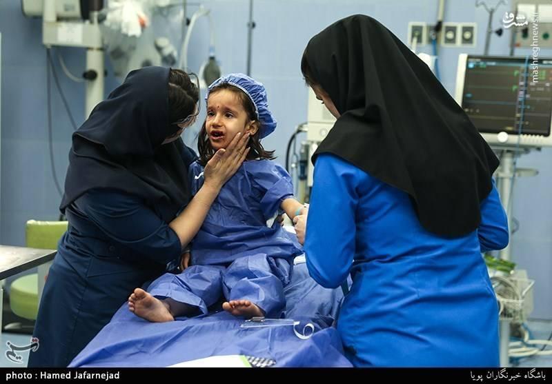 دختر بچه مجروح شده در چهارشنبه سوری