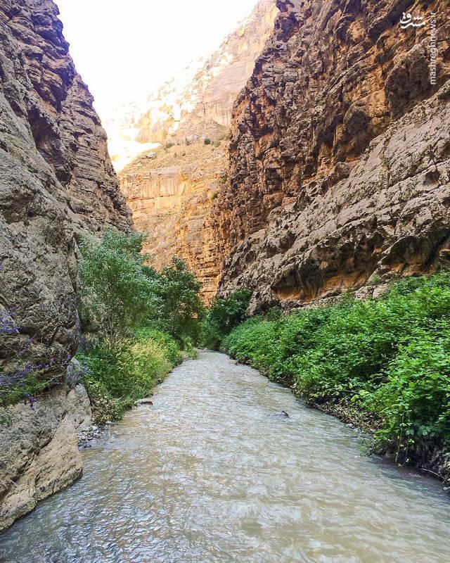 در مدخل ورودی زو (دره ) رودخانه ای فصلی جاری است.