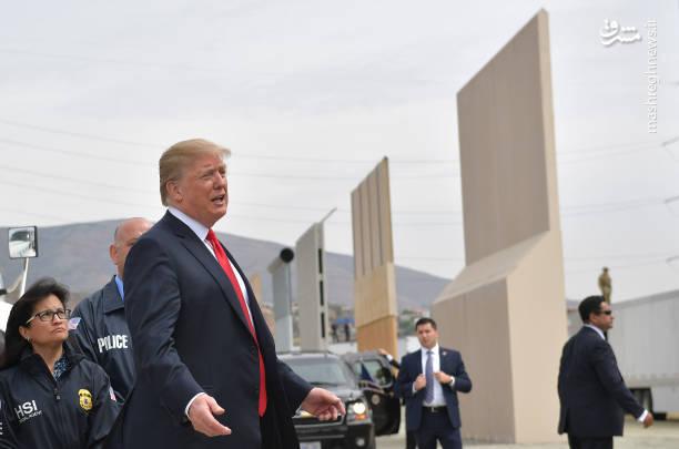 بازدید ترامپ از دیوار مرزی کشور آمریکا و مکزیک