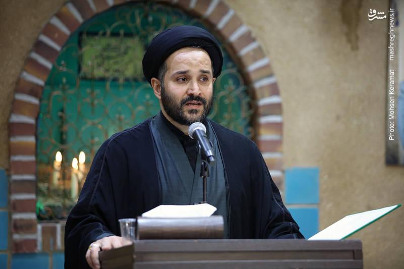 حجت الاسلام معصومی برادر خانم مرحوم مقدسی