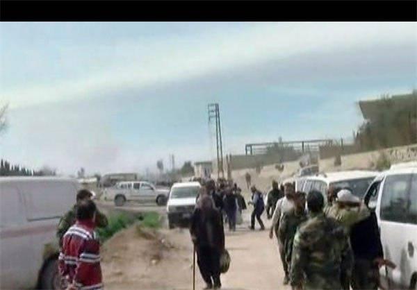 عکس/ خروج غیرنظامیان از غوطه شرقی دمشق
