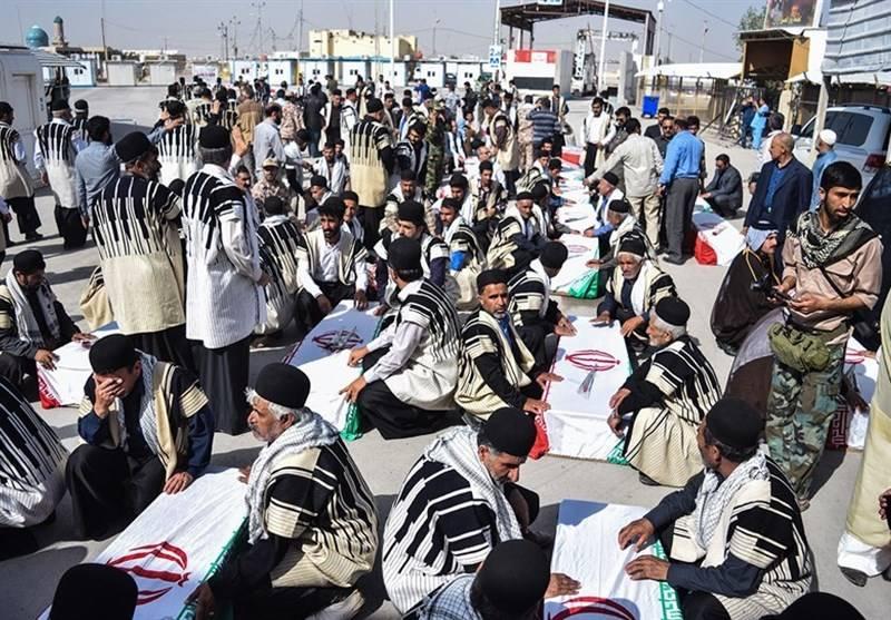 استقبال از پیکر مطهر 118 شهید دوران دفاع مقدس در مرز شلمچه