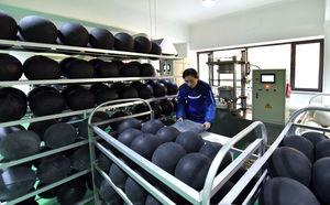 عکس/ کارخانه توپ سازی در کره شمالی