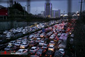 عکس/ ترافیک تهران در روزهای پایانی سال
