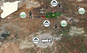حملات سنگین تروریست ها برای اشغال شهرک محاصره شده کفریا در شمال شرق ادلب ناکام ماند + نقشه میدانی و تصاویر