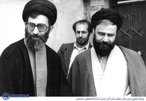 رهبر و احمد خمینی