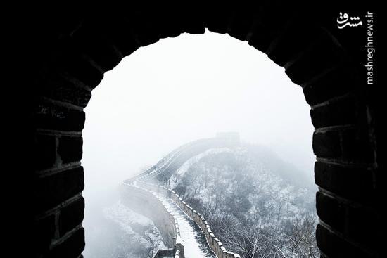 دیوار چین سفیدپوش شد