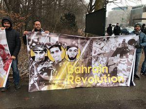 عکس/ اعتراض بحرینیها در برلین علیه سعودیها