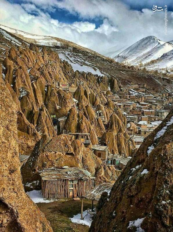 نمایی زیبا از روستای کندوان