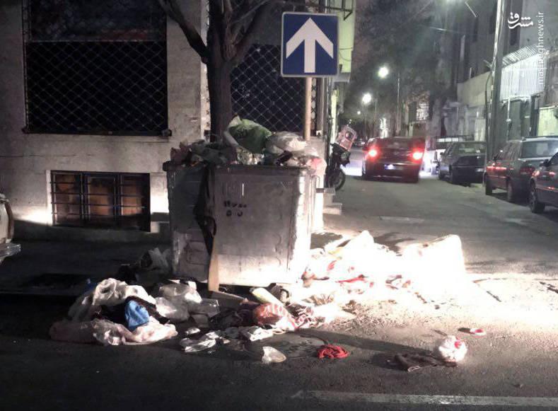 عدم جمع آوری زباله های شهری از سوی شهرداری تهران