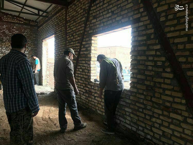 حضور حاج محمود کریمی در اردو جهادی، شهرستان نهبندان استان خراسان جنوبی