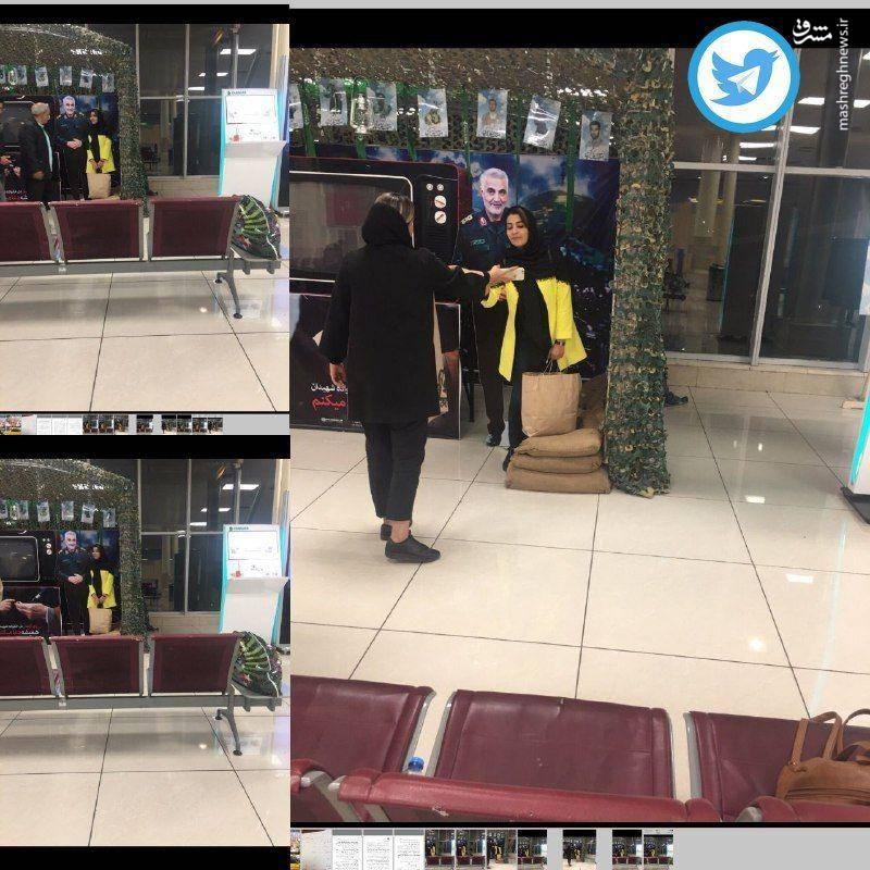 عکس یادگارى با سردار سلیمانى در فرودگاه مهرآباد