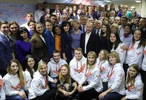 عکس یادگاری پوتین بعد از پیروزی در انتخابات