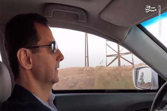 رانندگی بشار اسد