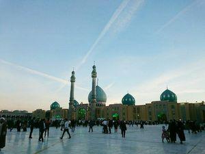 عکس/ آخرین غروب خورشید سال۹۶ در مسجد جمکران