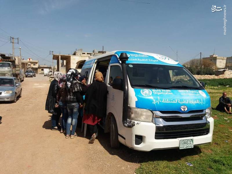 ارائه خدمات بهداشتی درمانی به مجروحان و آوارگان عفرین در نبل و الزهرا
