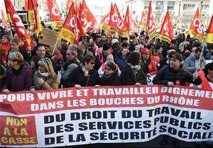 تظاهرات ضددولتی در پاریس