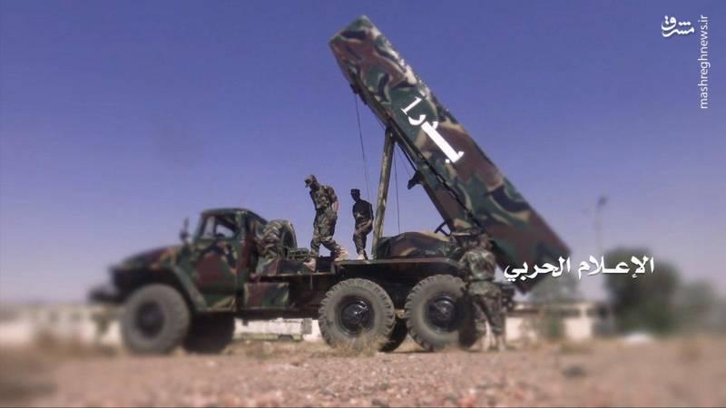 شلیک موشک بدر 1 به  تأسیسات نفتی عربستان