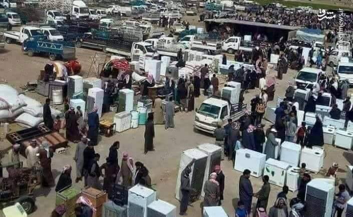نیروهای ارتش ترکیه به 3 کیلومتری شهرک های نبل و الزهرا رسیدند/ فروش اموال غارت شده مردم عفرین در بازار شهر اعزاز + تصاویر و نقشه میدانی