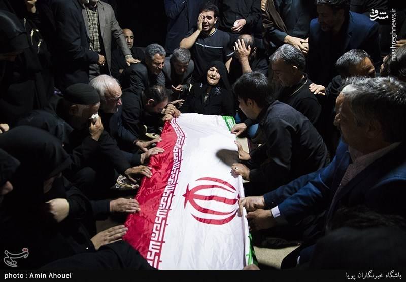 مراسم وداع با پیکر پاسدار شهید محمد امرایی