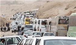 ترافیک فوقسنگین در تمام محورهای شرق تهران