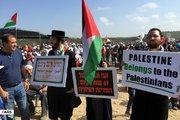 دومین روز راهپیمایی فلسطینیان در غزه