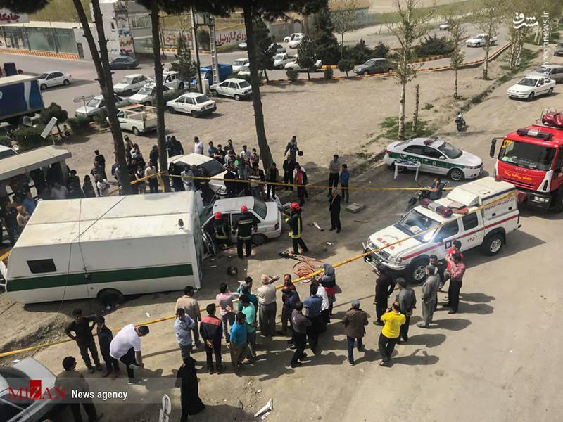 برخورد مرگبار پراید با کانکس نوروزی پلیس