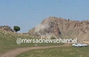 فیلم/ ریزش کوه براثر زلزله امروز در سرپل ذهاب