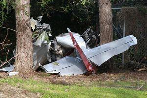 عکس/ سقوط یک هواپیما در کالیفرنیا