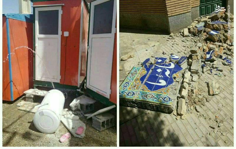 اولین تصاویر از خسارت زلزله در سرپل ذهاب
