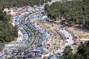 تصاویر هوایی از سیزده بدر در تهران
