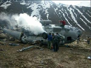 عکس/ سقوط مرگبار یک بالگرد در هیمالیا