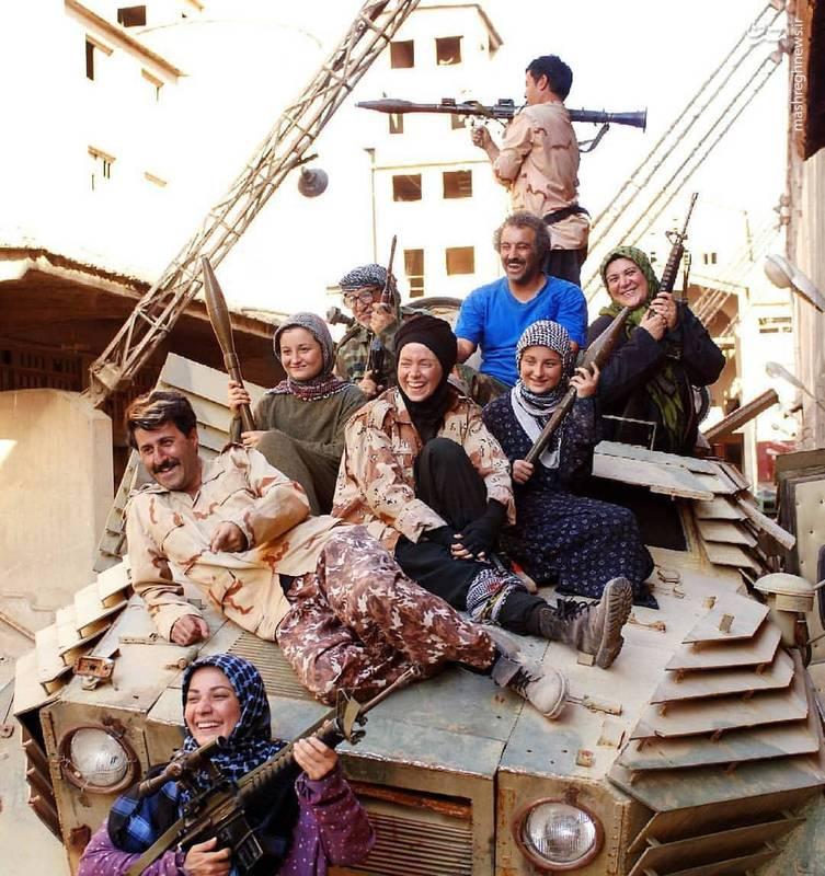 تانک سواری بازیگران ایرانی در دل داعش