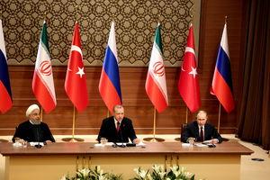 عکس/ نشست خبری روسای جمهور ایران، روسیه و ترکیه