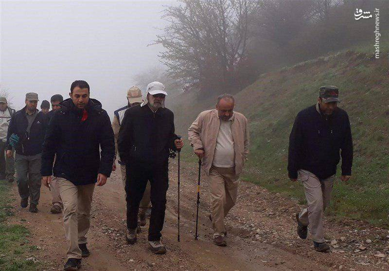 طبیعت گردی لاریجانی در تعطیلات نوروز