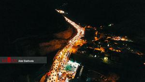 تصاویر هوایی از ترافیک محور هراز