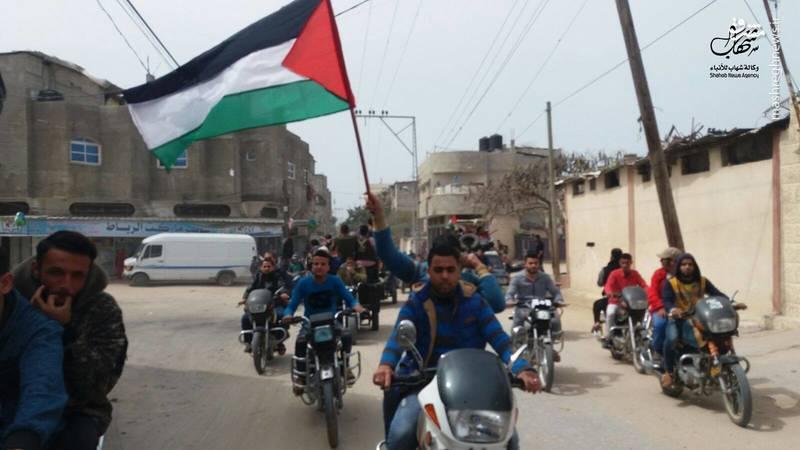 در راهپیمایی هفته قبل 22 فلسطینی در اثر تیراندازی مستقیم صهیونیستها به شهادت رسیده بودند