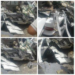 عکس/ برخورد شدید خودروی سمند با خاور