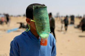 عکس/ ماسک عجیب نوجوان فلسطینی