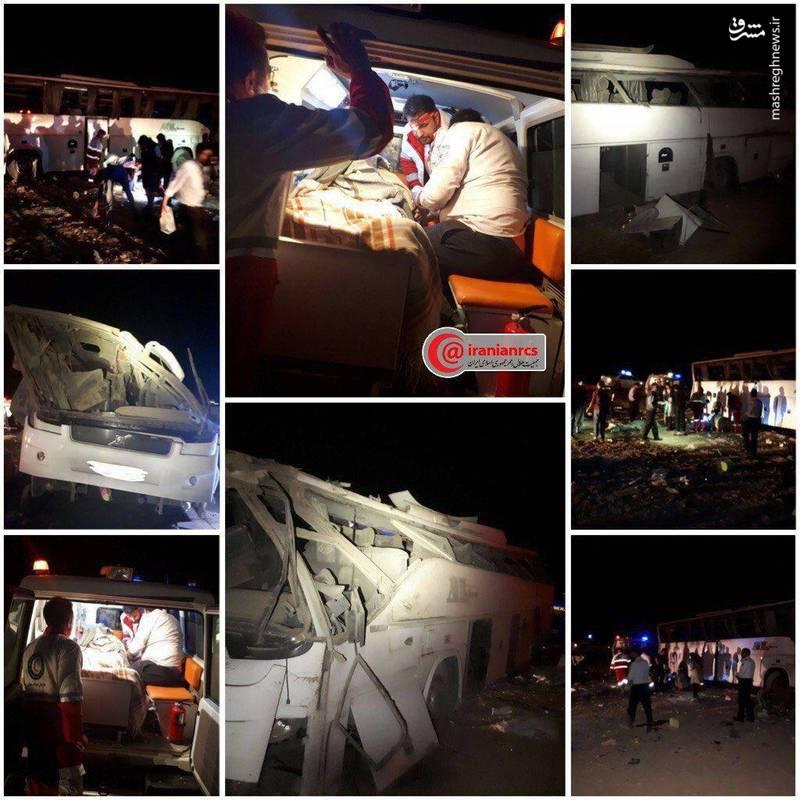 واژگونی مرگبار اتوبوس ولوو در کرمان